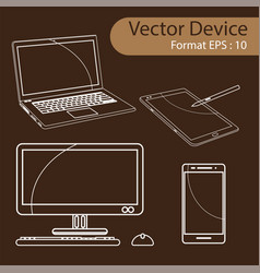 Set of digital devices vector