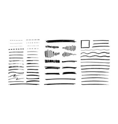set of grungy graphite pencil art brushes pencil vector image