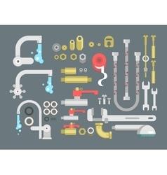 Set plumbing parts vector