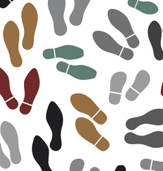 Shoes silhouette seamless background vector