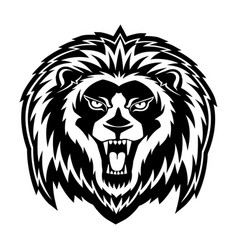 sign of a black lion vector image