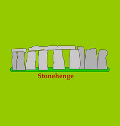 Stonehenge icon isolated on white background for vector