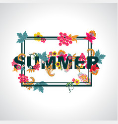 summer background with typography design with vector image