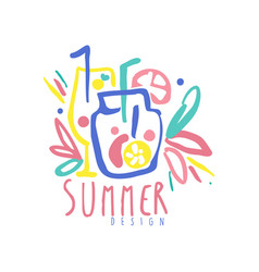 Summer logo design label for summer holiday vector