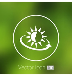 Sun Cream Containers icon sun tan vector