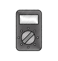 tester device electricity measuring icon vector image