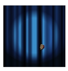 Theater curtain with spotlight vector image