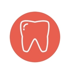 Tooth thin line icon vector