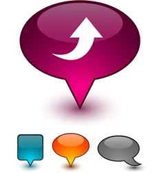 Upload speech comic icons vector