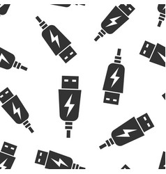 usb cable icon seamless pattern background vector image