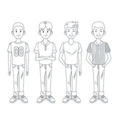 young boys cartoon vector image