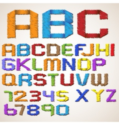alphabet letters vector image vector image