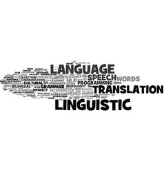 linguistic word cloud concept vector image