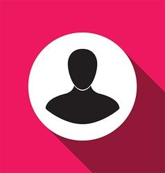 man flat icon vector image vector image