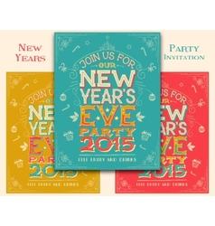 New Years Eve party invitation vector image vector image