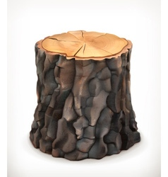 Tree stump icon vector image