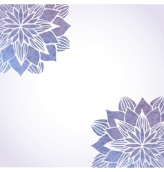 Background with watercolor violet floral vector image vector image