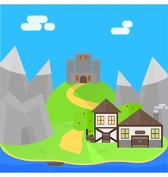 Cartoon medieval background vector image