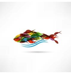 creative abstract fish icon vector image