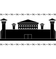 stencil of prison vector image