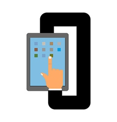 Tablet and hand Autopilot for your tablet Business vector image