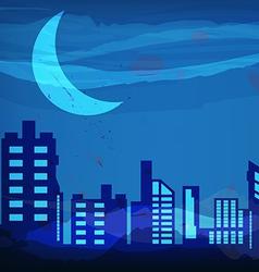 artistic watercolor night city vector image vector image