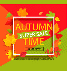 autumn super sale banner vector image vector image