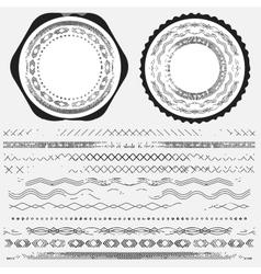 Big set of dividers for web design vector image vector image