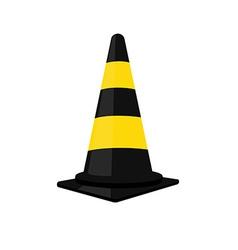 Black traffic cone vector image