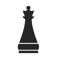 chess piece queen flat object on a white vector image