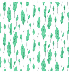 foliage green plant seamless pattern vector image vector image