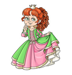 lovely princess color isolated on a white vector image
