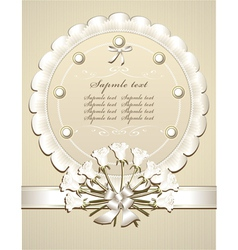 Wedding Congratulation or Invitation with roses vector image vector image