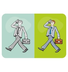 Businessman talking on the mobile phone vector image vector image