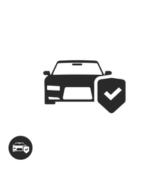 Car protection icon isolated concept of vector image