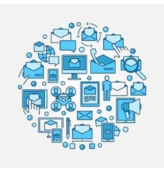 Email marketing circular vector image vector image