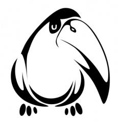 fun bird vector image vector image