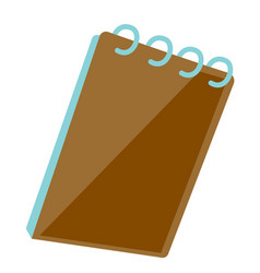 notepad with ring binder vector image