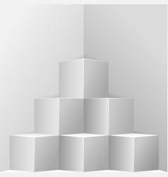 original corner showcase vector image