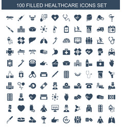 100 healthcare icons vector