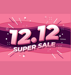 1212 shopping day super sale poster vector image