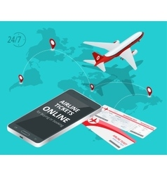 airline tickets online buying or booking airline vector image