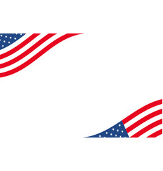 american banner usa border background with waving vector image