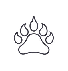 animal footprint line icon sign vector image