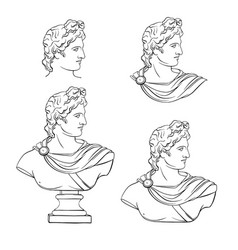 apollo sculpture actual classic ancient statue vector image