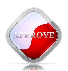 Approve icon on a white background vector image