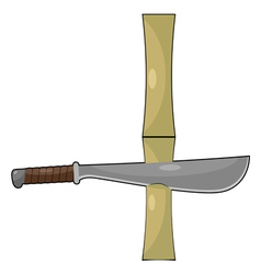 Bamboo and machetes vector