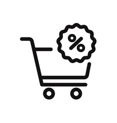 bargain icon vector image