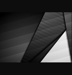 black and grey abstract geometric corporate vector image