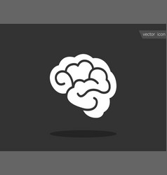 brain - icon brain in flat design vector image